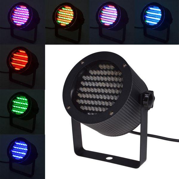 86 RGB LED Etapa de luz Par Light 4 canales DMX512 Control 25W Proyector láser DJ Party Disco Etapa de luz AC 90-240V con EU enchufe EE. UU.