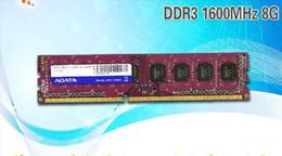 Ddr3 computador desktop on-line-Frete grátis Adata 8g ddr3 1600 computador desktop ram único 8 gb