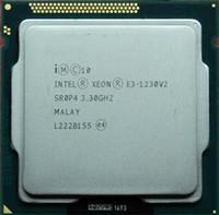 45nm cpus großhandel-versandkostenfrei Intel e3-1230 v2 zerstreute Stücke cpu 1155 Schnittstelle Server CPU Intel Xeon Intel Itanium