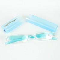 считывающие линзы для пк оптовых-Platic трубки очки для чтения тонкий очки пластиковые очки для чтения очки PC Power объектив смешанные цвета Бесплатная доставка с 20 шт.