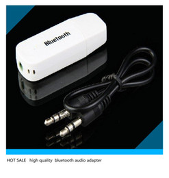 Wholesale Drop Price Hot Bluetooth Wireless audio Adapter Receiver USB Music Receiver for iPhone iPad Samsung Speakers Black White