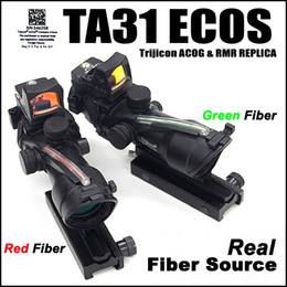 Wholesale Trijicon Green Dot - Trijicon ACOG 4X32 Real Fiber Source Red Green Illuminated Scope w  RMR Micro Red Dot