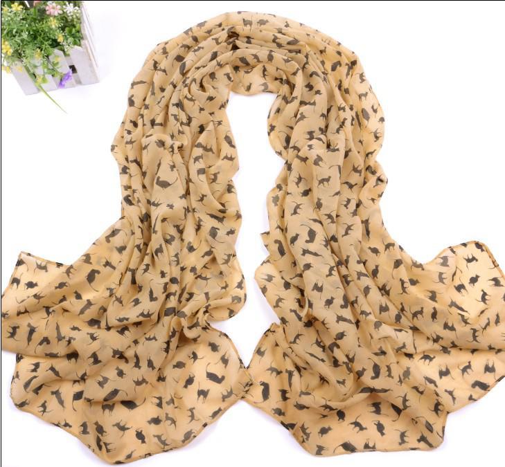 Schals der Art- und Weiseseide-Schals-reizvolle Katze lange Schal-Chiffon- Shawls Marilyn Monroe-Frauen Weihnachtsgeschenke Mehrfarben /