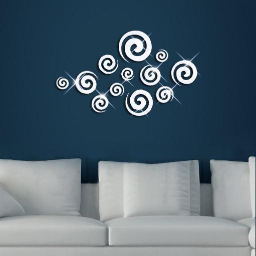 Darmowa Wysyłka 40x60 cm Nowość Wzór Cloud Naklejka Naklejka 3D Lustro Naklejki Biurowe Wall Szablony DIY Naklejka ścienna