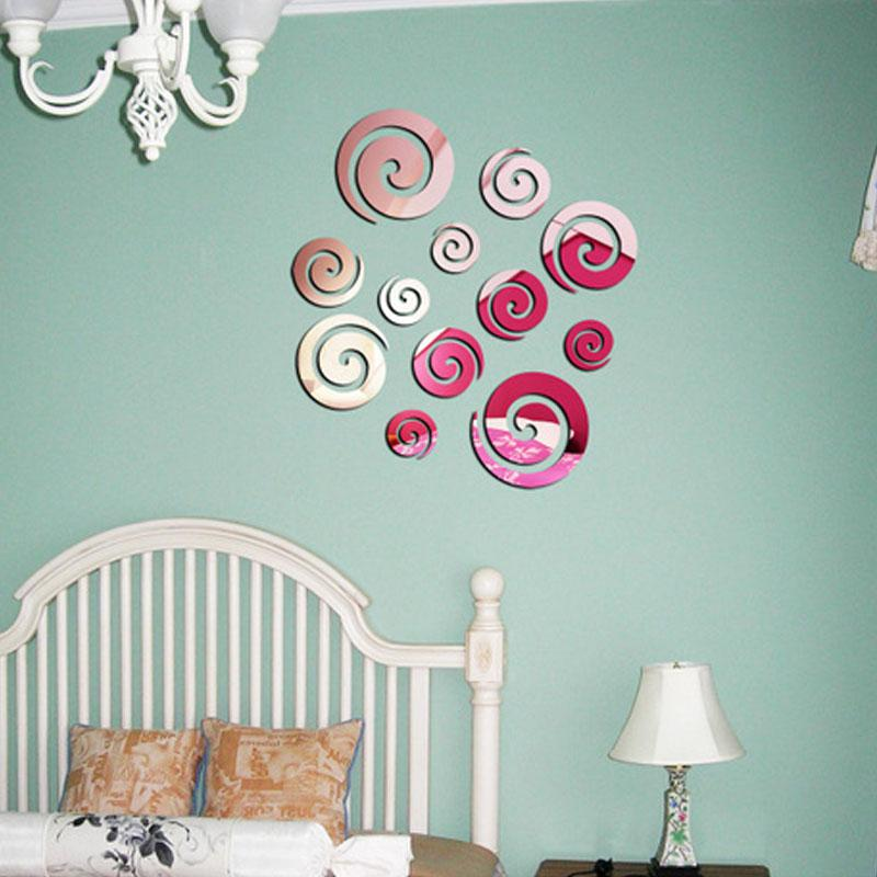 40x60cm Novelty Cloud Pattern Wall Decal 3D Mirror Sticker office Wall Stencils DIY WALL STICKER