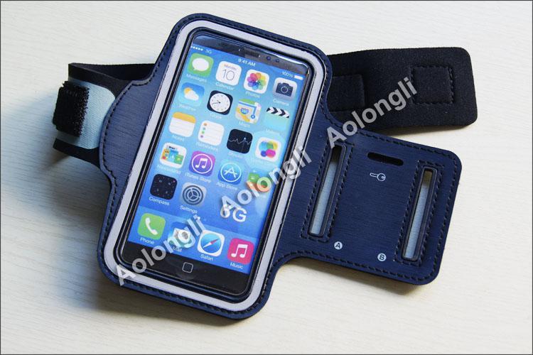 Ücretsiz DHL Spor Kol Bandı iphone 6 Için artı Su Geçirmez Gym Koşu Armband Yumuşak kılıfı Kılıf 4.7 / 5.5 inç iphone6 için 5 / 5C / 5 S Galaxy S3 S4 S5