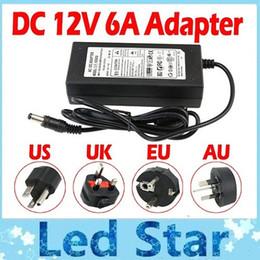100% 6A 72W 12V Transformator Adapter Gebühr für LED-Streifen Licht CCTV-Kamera + 1,2 m Kabel mit EU / AU / US / UK Stecker im Angebot
