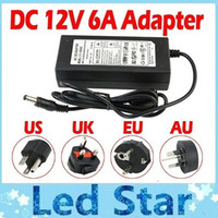 Wholesale 12v adapter uk resale online - 12V A AC DC Transformers Adapter Charge For High Bright W V Led Strips m Cable With EU UK AU US Plug