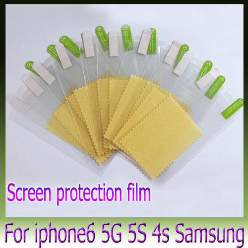 Filme protetor de tela filme protetor de tela clara para iphone6 4.7 5.5 mais 4S 5S samsung galaxy s5 s4 s3 nota3 nota4