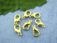 Wholesale Parrot Nose - 100Pcs Gold Plated lobster Parrot Clasps 12x6mm