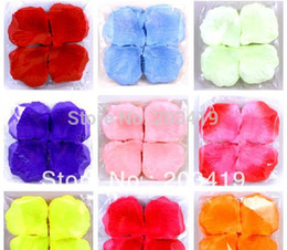 Wholesale Silk Rose Flower For Hair - Wholesale-500pcs lot Artificial Flowers Silk Rose Petals for Birthday Wedding Party Decoration gift craft hair accessory DIY whcn+