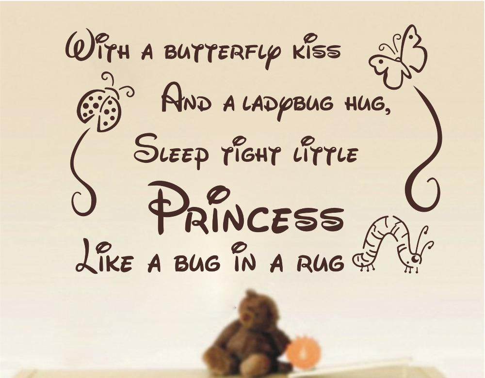 Wall Sticker Quotes Butterfly Kiss Ladybug Hug Quote Art Wall Stickers  Vinyl Decal Baby Room Decor Airplane Wall Decals Airplane Wall Stickers  From ... Part 46