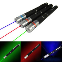 Wholesale Laser Hunting Flashlight - 5mW 532nm Red Green Blue Purple Visible light Beam Laser Pointer Pen Flashlight SOS Mounting Night Hunting teaching Lazer Meeting Travel