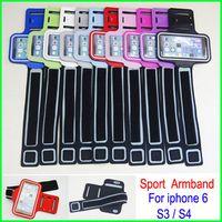 bolsa para correr para s4 al por mayor-Lo nuevo Universal impermeable Running Sports Brazalete GYM Brazalete cinturón Belt Pouch funda piel para iPhone 6 4S 5 5S 5C Samsung Galaxy S4 S3