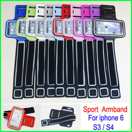 Wholesale Iphone 4s Running - Newest Universal Waterproof Running Sports Armband GYM Arm band Belt Pouch cover case skin for iphone 6 4S 5 5S 5C Samsung Galaxy S4 S3