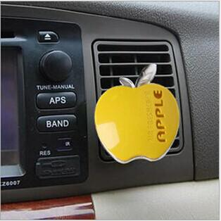 top popular 30pcs lot Car Interior Accessories Car Air Freshener Apple Shape Auto Air Outlet Perfume Aromas Free Shipping 2020