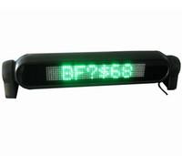 экран 12v оптовых-Зеленый светодиод прокрутки автомобиля вывеска 12V программируемый экран дисплея сообщение русский английский язык с розничной упаковке