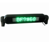programmierbare led-bildschirme großhandel-Grünes LED-Blättern-Autoschild-Brett 12V Programmierbarer Nachrichtenanzeigebildschirm Russische Englischsprache mit Kleinpaket
