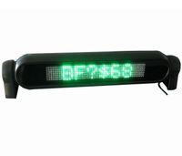 painéis de placas led programáveis venda por atacado-LED verde Rolagem Placa Do Sinal Do Carro 12 V Tela de Exibição de Mensagem Programável Língua Russa Inglês com pacote de Varejo