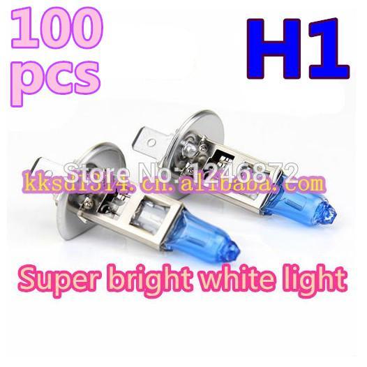 100 adet H1 Süper Parlak Beyaz Halojen Ampul 55 W 5500 K Araba Başkanı Lamba Işık 12 V Araba Işık