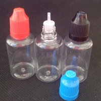 2014 Clear Dropper Bottle 1500Pcs / lot PET larga y delgada punta 30ml Eye Dropper Bottle, 30 ml Botella para niños con tapa a prueba de niños