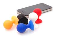 suporte de celular de borracha venda por atacado-Suporte da montagem da bola do suporte do otário do telefone celular de borracha do polvo mini para o iphone 4 4S 5G do toque de iPod colorido