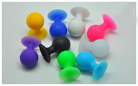 Wholesale Cell Phone 5g - Octopus Rubber Cell Phone Sucker Stand Mini Ball Mount Holder for ipod Touch iphone 4 4S 5G 500pcs