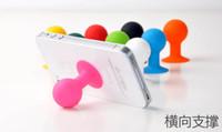ingrosso gomma di supporto mobile-Colorful silicone gomma polipo universale ventosa supporto del telefono mobile braccialetto supporto del telefono mini supporto della sfera per samsung HTC ipod touch iphone