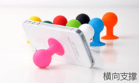 Wholesale Octopus Iphone - Colorful silicone rubber octopus universal sucker mobile phone stand bracelet phone holder mini ball stand for samsung HTC ipod Touch iphone