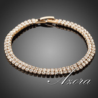 Wholesale Stellux Austrian Crystals - 18K Real Gold Plated Full Stellux Austrian Crystal Bracelet FREE SHIPPING!(Azora TS0017)