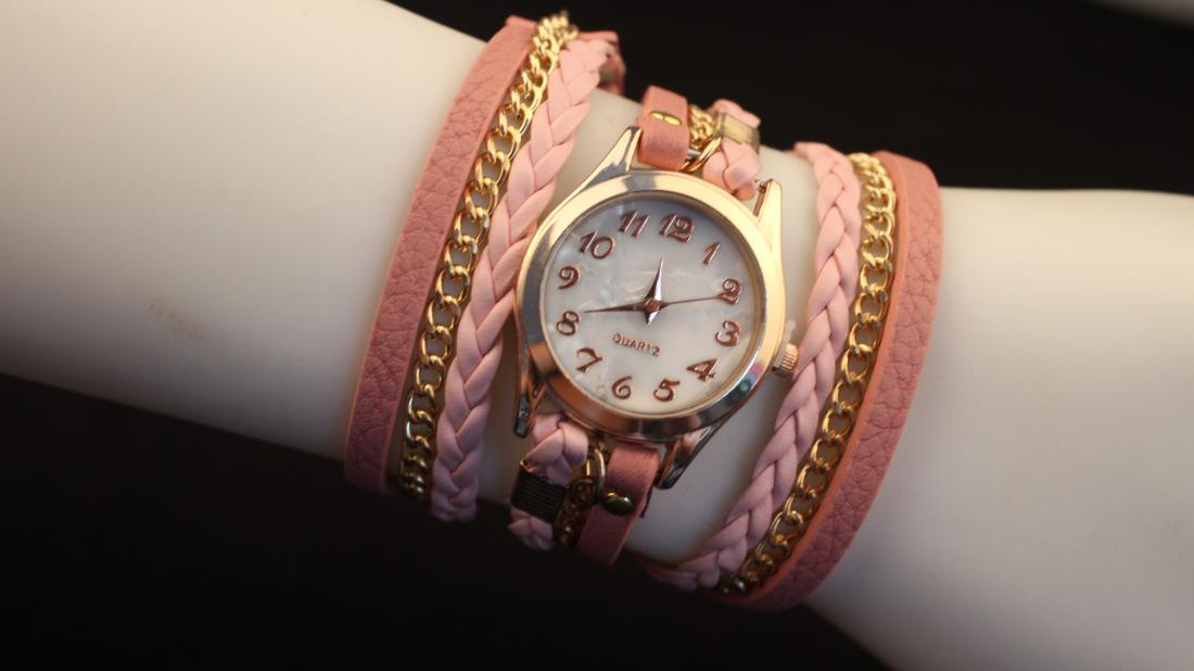2014 New Arrival Leather Bracelet Watches Hot Fashion Dress Wristwatch Women/Lady Watches Retro Synthetic Leather Strap Bracelet Watch DM3