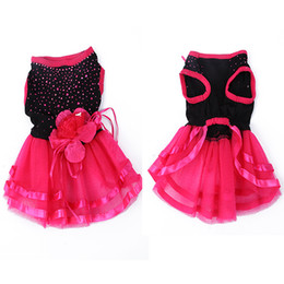Wholesale Dogs Clothing Dress - Wholesale-FreeShipping Pet Dog Cat Bling Red&Black Tutu Dress Lace Skirt Puppy Clothes Dog Party Dress DropShipping