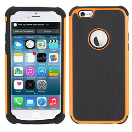 Wholesale Rugged Hard Case Iphone - For iphone 6 6S 6plus Rugged Hybrid Shockproof Defender Armor PC+Silicone Hard Case Cover For iphone6 plus