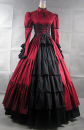 Wholesale Prom Dress Games - Cheap Multi Layers And Ruffles Stripless Satin Cosplay Gothic Victorian Lolita Dress Prom Dress Halloween Costume