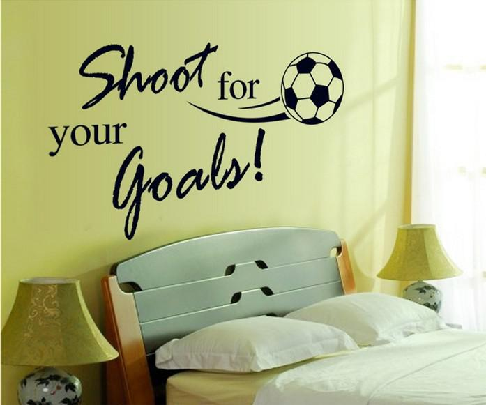 Shoot For You Goals Banksy Vinyl Quotes Art Wall Stickers Decals For ...