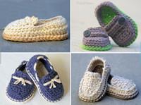 padrões de sapato de bebê crochê venda por atacado-10% de desconto Padrão Crochet - Baby boy - lozers Lil 'super padrão pack co 2014 atacado moda bebê bonito sapatos de crochê cheap12pairs / 24pcs