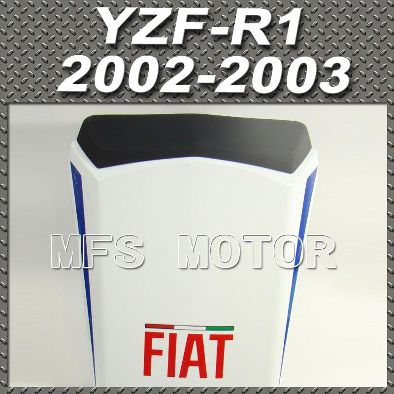 For YZF-R1 Motorcycle Rear Pillion All White Injection ABS Seat Cowl Cover For Yamaha YZF-R1 2002-2003 FIAT