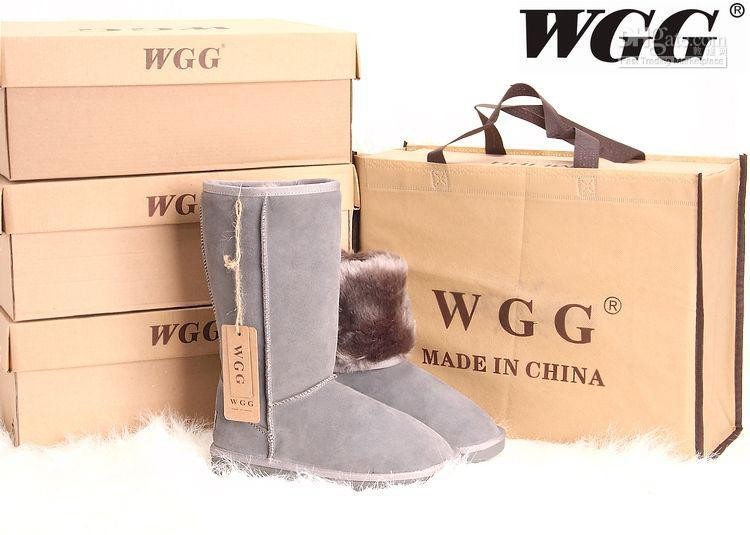 2015 Australia classic tall waterproof cowhide genuine leather snow boots warm shoes for women
