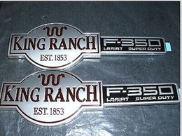 Wholesale Factory Emblems - Freeshipping 2001 2002 2003 2004 FORD F-250 F350 KING RANCH FACTORY FRONT FENDER EMBLEMS 2peice =1pair