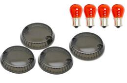 Wholesale Yamaha V Star Turn Signals - Smoke Turn Signal Lens Lenses Blinkers For Yamaha V-Star Stryker (All Years)