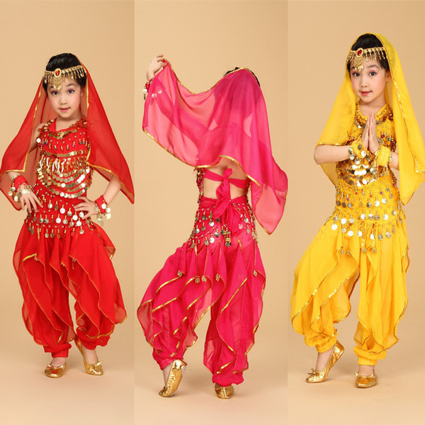 best selling High Quality Belly Dance Costume Kids Belly Dance Costumes Children's Dancing Wear Belly Dance Cloth Stage Wear Set