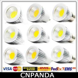 Wholesale Super Bright Led Spotlights - Super Bright COB GU10 Led 5W 7W 9W Bulb Lights Dimmable E27 E26 MR16 Led Spot Light Lamp 110-240V 12V CE RoHS UL