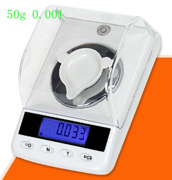 50g 0.001g LCD Digital Jewelry Diamond Scale High Precision Portable Gem Carat Electronic Scales With Counting