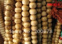 Wholesale Tibetan Yak Bone Bead Bracelet - BRO814 Tibetan 108 antiqued Yak bone rosary,10mm,Beige yellow round bone prayer beads malas