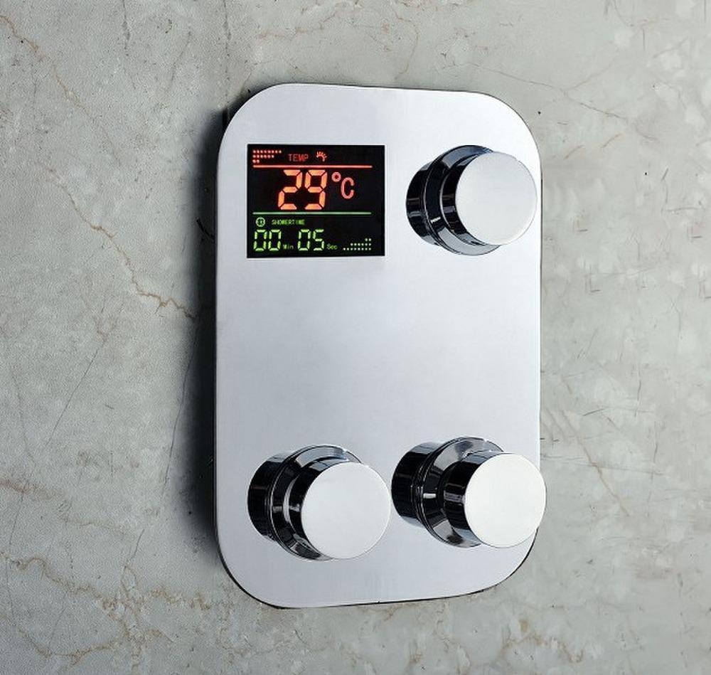2018 Digital Shower Faucet Thermostatic Temperature Sensitive Square ...
