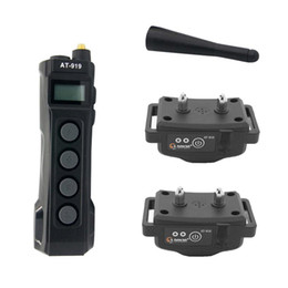 Wholesale Two Dog Shock Collar - Rechargeable Waterproof LCD Electronic Shock training Collar for 2dogs AT-919-2