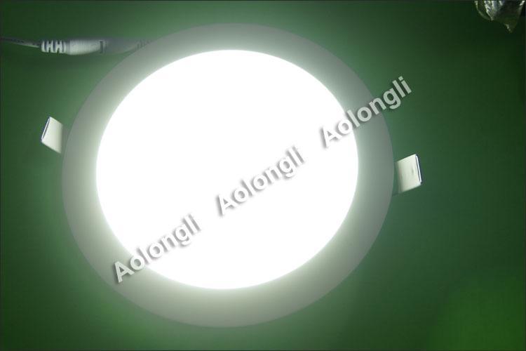 Ücretsiz DHL 6 W 9 W 12 W 15 W 18 W LED Tavan Işıkları Gömme Downlight 85-265 V Ultrathin LED Panel Işıkları Güç Kaynağı Ile Serin Beyaz Sıcak Beyaz