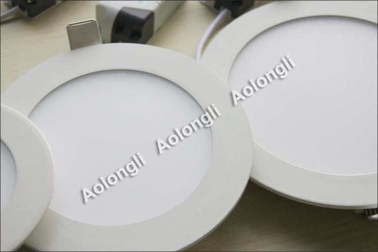 무료 DHL 6W 9W 12W 15W 18W LED 천장 조명 Recessed Downlights 85-265V Ultrathin LED 패널 조명 전원 공급 장치 멋진 흰색 따뜻한 흰색