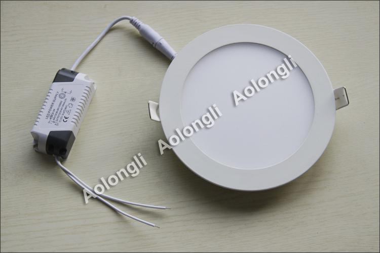 Free DHL 6W 9W 12W 15W 18W LED luzes de teto recuado Downlights 85-265V Ultrathin led painel luzes com fonte de alimentação branco branco branco branco