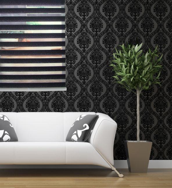 100% Polyester Translucide Zebra Stores Stores en noir Taille Personnalisée Rideaux pour Salon 30 Couleurs sont disponibles